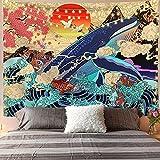 CYYyang Tapisserie Wandbehang Wandteppich, Dekotuch/Tagesdecke Hängender Stoffdekorationsbaumseesilhouettendruck