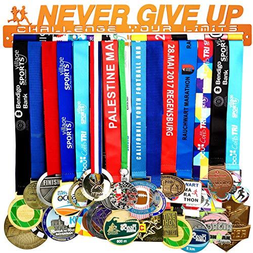 Medaillen-Aufhänger für Gymnastik, Fußball, Softball, Cheer, Hockey, Runningtriathleten, Edelstahl-Medaillenhalter, living coral