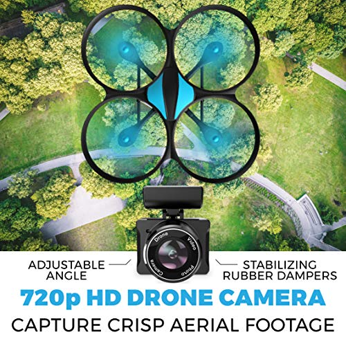 Force1 U49WF WiFi HD Camera Drone with 2 Extra Batteries