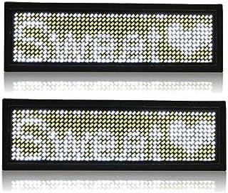 Carte rechargeable de nametag de nom commercial de badge nominatif programmable de LED d'identification de badge avec l'ai...