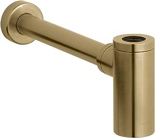 Kohler K-9033-BGD Contemporary Round Bottle Trap, 1-1/4 x 1-1/4 Inch, Vibrant Moderne Brushed Gold