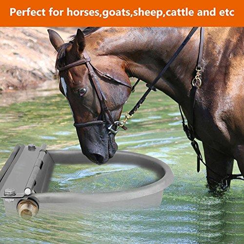 Wakects Abbeveratoio Automatico, Abbeveratoio per Bestiame Abbeveratoio per Bocca con a Livello costante Tappo per Pulizia per Pet Animal Cavallo/Pony