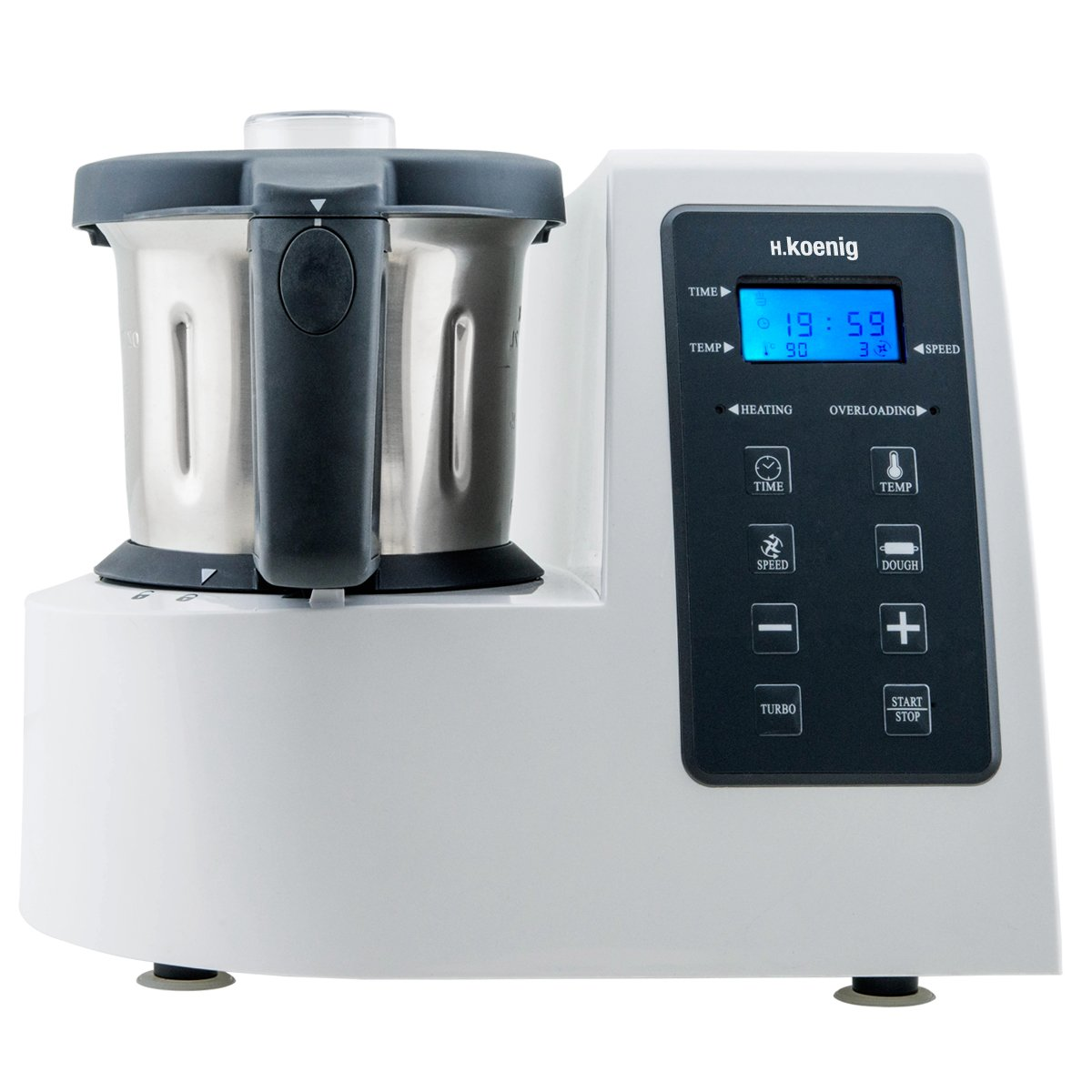 H.Koenig HKM1028 Robot de Cocina Funcion Caliente, 1300 W, 600 W ...