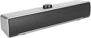 $30 » Speakers, Audio with Dual Speaker Design, Desktop Speakers, Compact and Lightweight Music Player for PC,(Silver)
