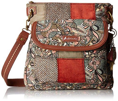 Sakroots womens Women's Artist Circle Cross Body Handbag, Sienna Spirit Desert Patch, One Size US