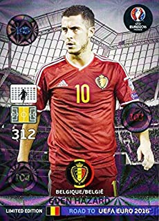 2016 Panini Adrenalyn Road to UEFA EURO France EXCLUSIVE Eden Hazard Limited Edition MINT! Rare Card Imported from Europe! Shipped in Ultra Pro Top Loader to Protect it!