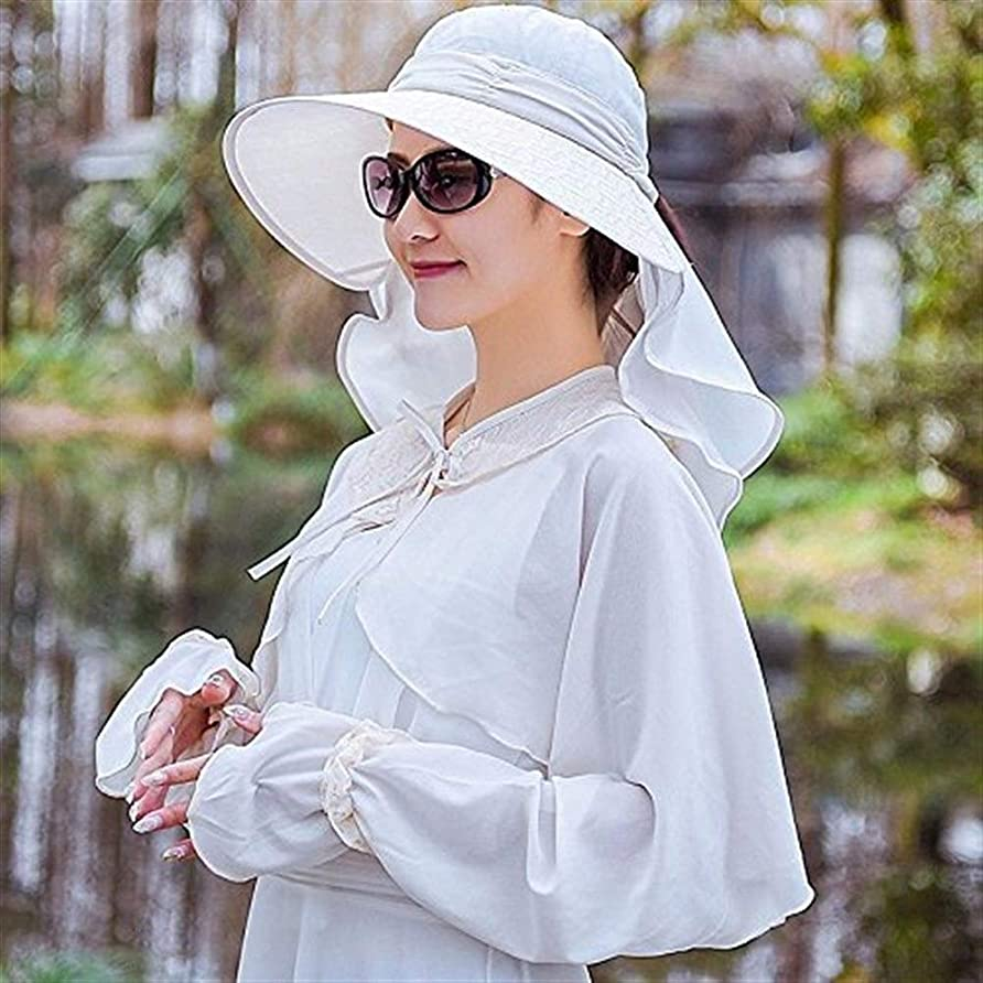 鳩小説不忠Chuangshengnet 女性のための帽子夏のアウトドアワイルドサイクリング360アンチUVキャップ