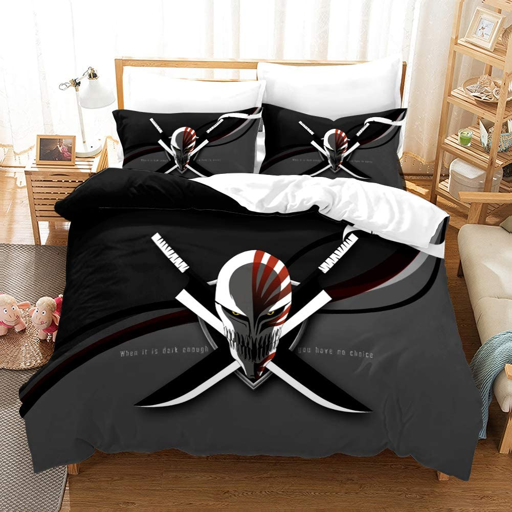 YUN-1 3-Piece Bedding Set HD Fiber Patterns Anime All items free shipping Max 80% OFF Polyester Comf