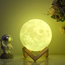 FULLOSUN Moon Lamp 3D Printed Dimmable Timer Moonlight, 16 Colors with Stand & Remote & Touch Control & USB Rechargeable, ...