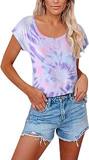 YOINS shirt dames T-shirt bovendeel lange mouwen sexy bovendeel voor dames tops zomer mouwloos ronde hals met sterren