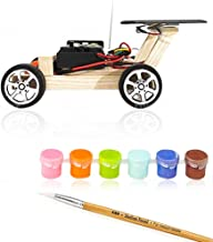 Remote Control Car Educational Toy Solar Powered Wooden Cars Circuit Science Robotics Engineering Stem Toys for Boys and Girls DIY Experiment