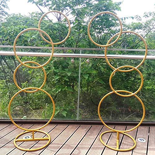 XSWL Metal Round Garden Arch, Arch DIY Curved Arches for Birthday Party Wedding Anniversary Etc