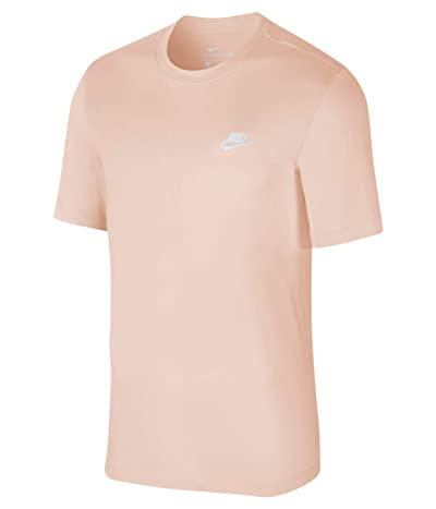 Nike NSW Club Tee (Washed Coral/White) Men