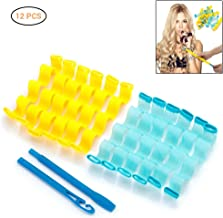 12 Pcs Magic Long Hair Curlers DIY Plastic Spiral Ringlets Wave Curl Formers Leverage Rollers Formers