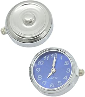 SEXY SPARKLES Watch Face Chunk Click Buttons Snap for Chunk Bracelets 25x21mm,knob:5.5mm