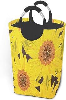 Tournesols décoratif fleur panier à linge pliable tissu panier à linge grand portable sale vêtements sacs de rangement mén...