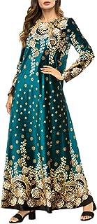 Xingsiyue Vestito Lungo in Velluto Musulmano - Costume Nazionale Abito da Sera Arabo Islamico Abaya Abito da Sera Caftani ...