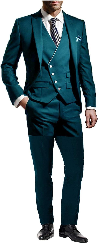 DGMJ JEXJ Formal Suits for Men Wedding Slim Fit 3 Piece Mens Prom Suits Jackets Set JXZ012