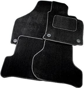 Full Set Black Velour Custom Exact Fit Car Carpet Floor Mats Twist-n-Turn Fixings AoE Performance