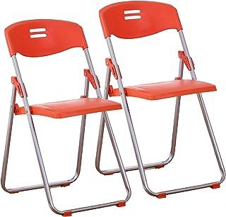 JHSLXD Chaise Pliante, Maison Dossier Chaise Bureau Chaise De Conférence Chaise De Formation Fer en Métal Chaise De Salle ...