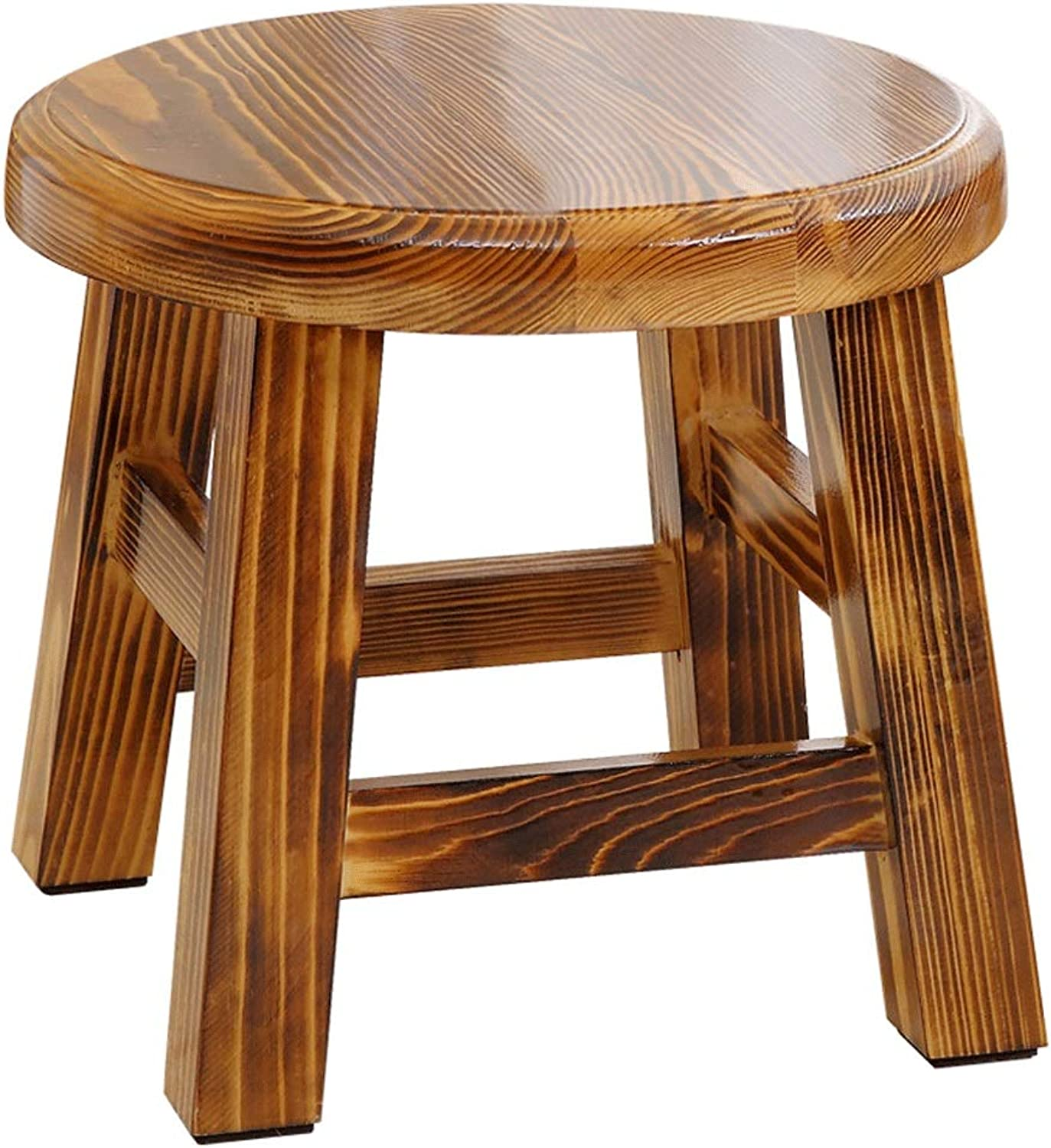 Solid Wood Stool Home Multiplex Can Small Stool Fashion Simple Pine Anti-Corrosion Durable Stool (color   A)