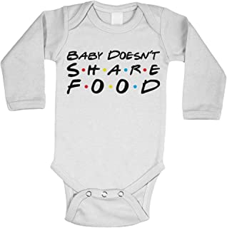 Sitcom Parody - Funny Cute Friend Long Sleeve Bodysuit (White, 6 Months)