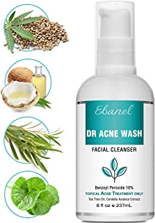 Benzoyl Peroxide Wash 10% Acne Treatment for Teens & Adults, 8 Oz Maximum Strength Acne Face Wash Body Wash, Acne Spot Treatment Acne Cream Cleanser for Pimples, Cysts, Blemishes, Zits, Clogged Pores