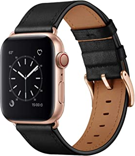 OUHENG Compatible with Apple Watch Band 38mm 42mm 40mm 44mm, Genuine Leather Band Replacement Strap Compatible with Apple ...