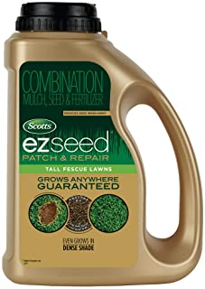 Scotts EZ Seed Patch and Repair Tall Fescue Lawns, 3.75 lb. - Combination Mulch, Seed, and Fertilizer - Tackifier Reduces Seed Wash-Away - Mix Covers up to 85 sq. ft.