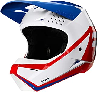 Shift Racing Whit3 Youth Off-Road Motorcycle Helmet - White/Red/Blue/Medium