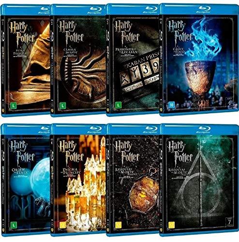 Coleção Harry Potter Blu-ray 8 Filmes (16 discos)