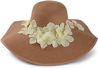 H.ZHOU Donna Cappelli da Sole Danza Lunga E Colorata Estate Femminile Visiera Ampia Gonna Beach Hat Seaside Cappello di Pa...