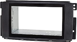 tomzz Audio 2451-038 Dubbele Din Radio installatie frame Set geschikt voor Smart fortwo 451 forfour 454 black met installa...