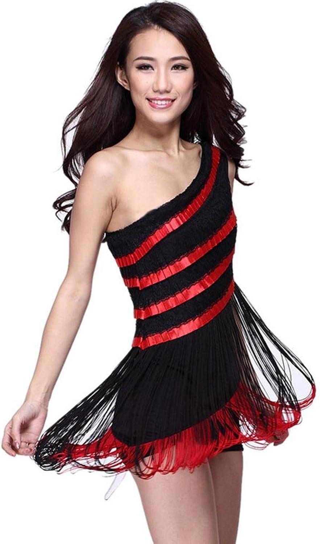 Byjia Lace Tassels Woman Latin Dance Dress