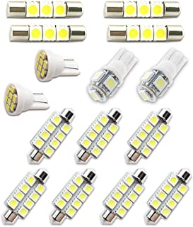 Dibiang 10pcs LED Double Pointer Light COB C5W 12V Voiture D/ôme Carte Lumi/ère plaque dimmatriculation Ampoule
