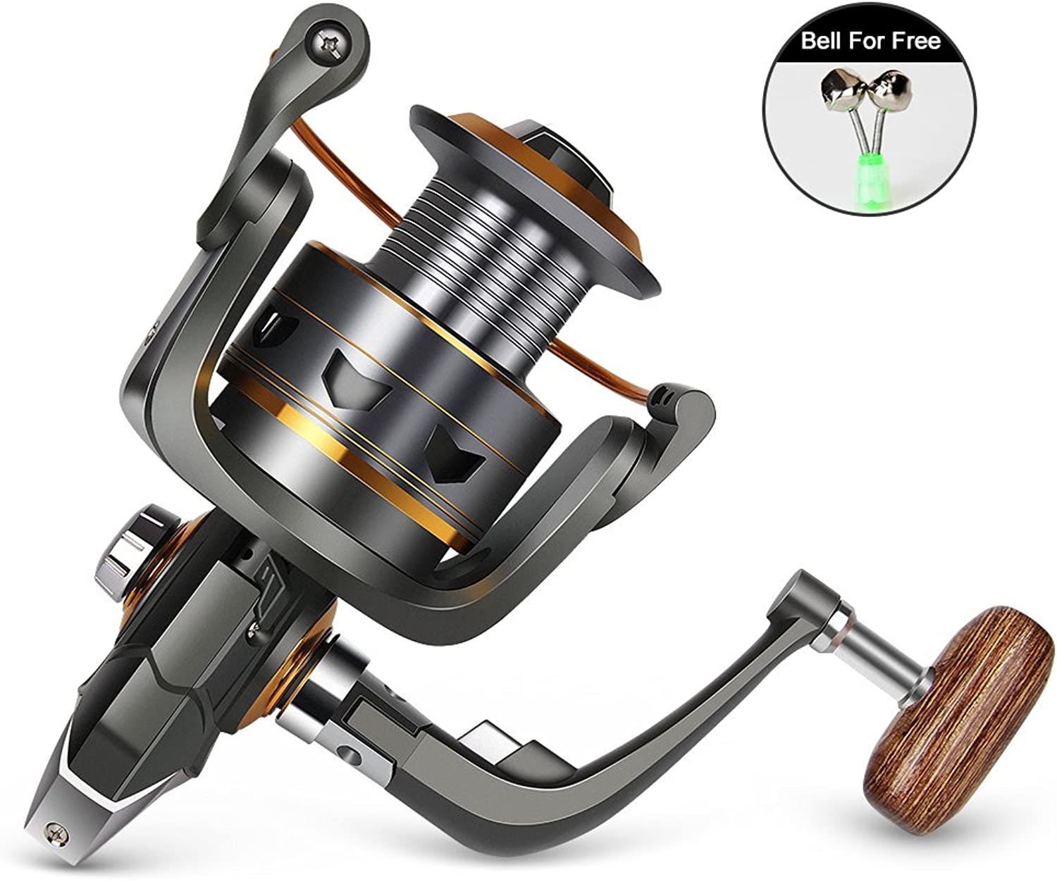 (Silver-4000) - WATERFLY Fishing Spinning Reel, Lightweight Smooth Powerful Spinning Reel for Left & Right Hand Salt & Fresh Water Fishing