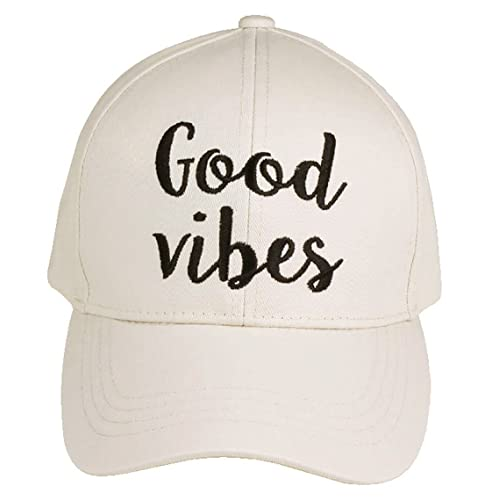 Funky Junque Women s Baseball Bold Cursive Embroidered Sayings Adjustable  Hat 73067b30dce