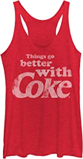 Coca Cola Women's Things Go Better with Coke Racerback Tank Top
