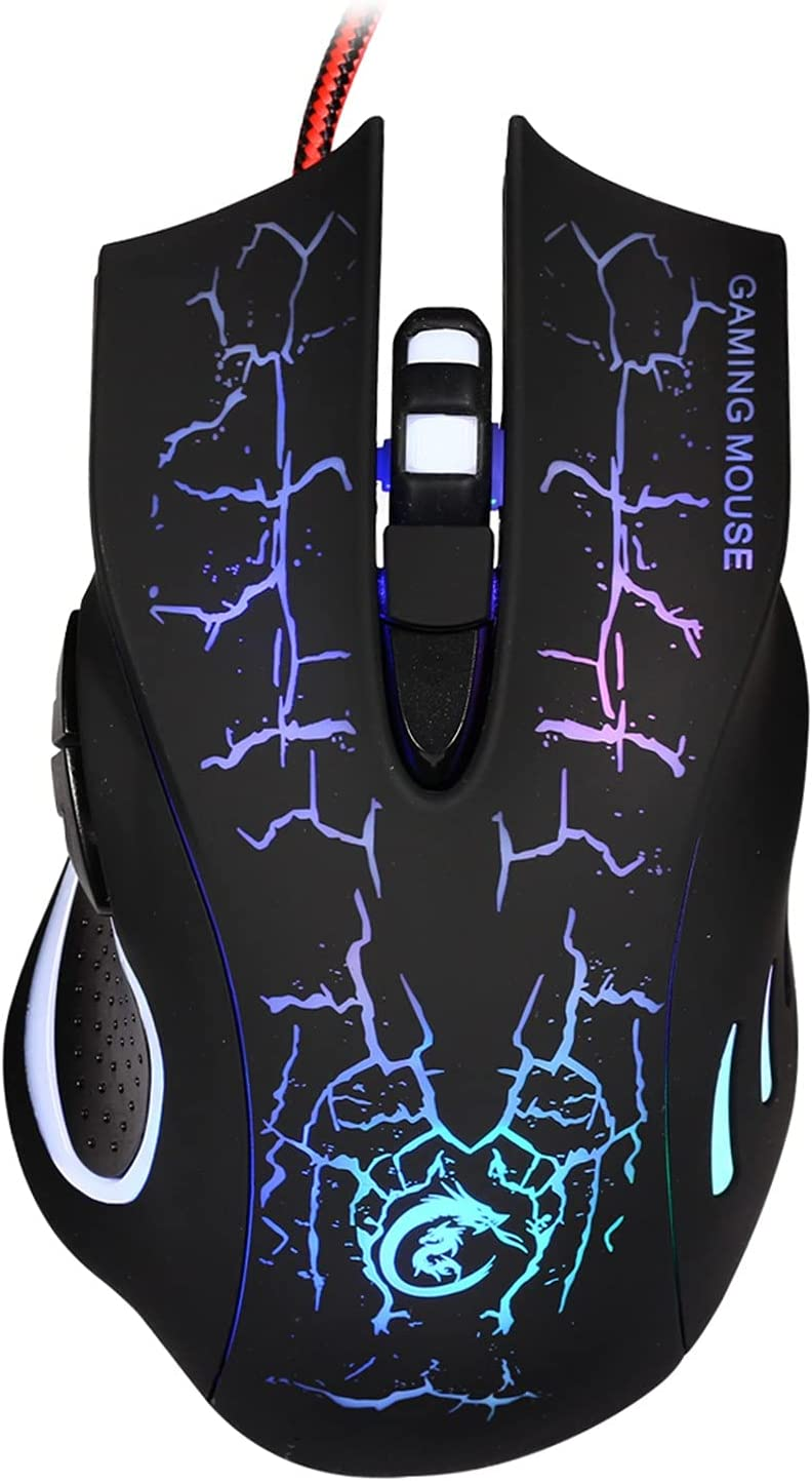 JKRED Electronics A888 Wired Gaming Mouse 6-Key Pattern Crack Topics on TV Co All items in the store