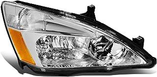 1Pc Passenger/Right Side OE Style Chrome Housing Headlight Lamp for Honda Accord 03-07