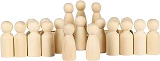 comprar comparacion VABNEER 65mm Muñecas de Madera Muñeca sin Terminar Decorativa 20 Piezas Muñeca de Madera Peg Dolls para DIY Manualidad Dec...
