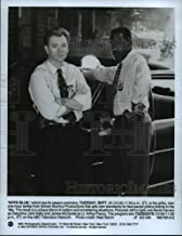 Historic Images - 1993 Press Photo David Caruso and James McDaniel on NYPD Blue, on ABC.