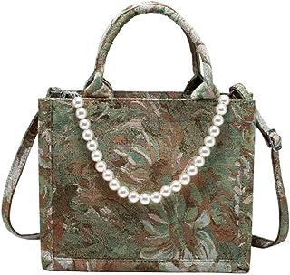 ALAIX Women' Tote Bag Handbag Canvas Shoulder Bags for Women Removable pearls حقيبة كتف حقيبة يد نسائية حقيبة يد قماشية لل...