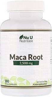 Nu U Nutrition Maca Root, 2,500 mg, 180 Vegan Capsules