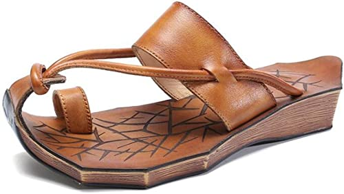 Sandales En Cuir Flip Flip Flop Les Les dames Chaussures à Talons Bas Glissent Sur Des Pantoufles Dété Occasionnels  belle
