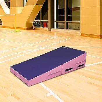 "Matladin 58""x29""x14"" Folding Gymnastics Cheese Wedge Incline Mat, Gym Fitness Tumbling Skill Shape Mat for Kids Girls..."