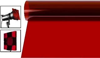 Neewer 16x20 Zoll Gel Farbfilter, farbige Überlagerungen, transparente Farbfolie, Korrektur Gel Lichtfilter für Fotostudio Blitz, LED Videoleuchte, DJ Licht usw. (rot)