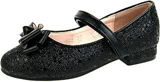 Girls Glitter Party Ballet Pumps Flat Party Shoes