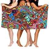 Yaxinduobao Toalla de baños Colored Abstract Eyes Super Soft Toalla de baño Absorbent Toalla de Playa Picnic Blanket Towels