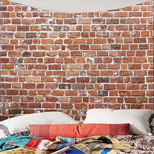 WAXB Tapisserie Benutzerdefinierte Wandbehang Wandteppich Vintage Steingrau Grau Backstein Wandteppich Für Schlafzimmer Wohnzimmer Boho Dekor Tagesdecke